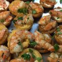 grilled shrimp lemon aioli tarts