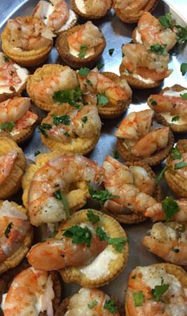 grilled shrimp lemon aioli tarts